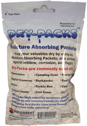 Dry-Packs Moisture Absorbing Silica Gel Indicating 1 Ounce Packets (4-Pack)