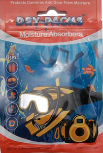 Dry-Packs Scuba Moisture Absorbers - Protect Camera & Gear Against Fogging, Mold, & Mildew!